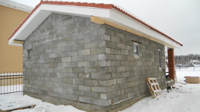 Баня из керамзитобетонных блоков своими руками: опыт строительства