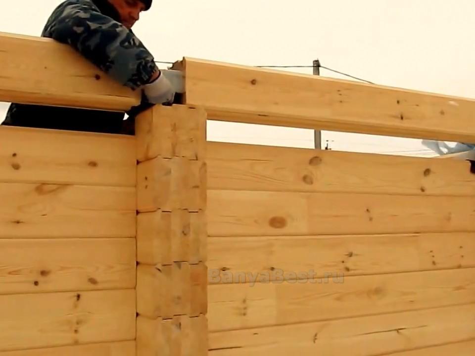 Сруб бани из бревна – как возвести качественную и долговечную постройку