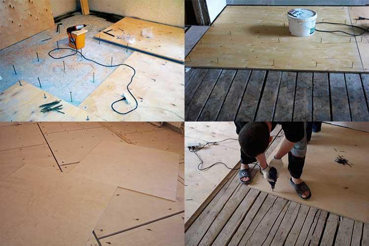 Выравнивание деревянного пола фанерой: все про укладку фанеры на деревянное основание