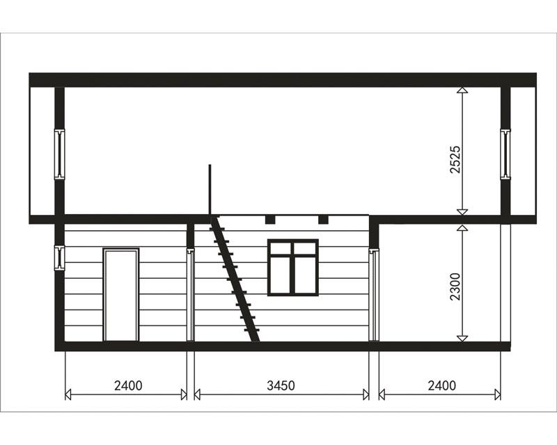 Проект маленькой бани, узкой, небольшой, компактной, бюджетной