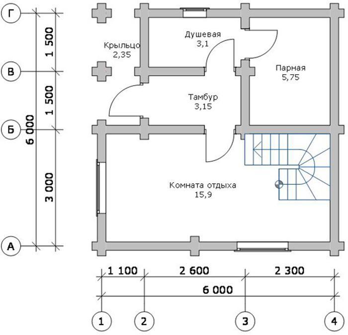 Проекты лучших двухэтажных бань — строительство бани