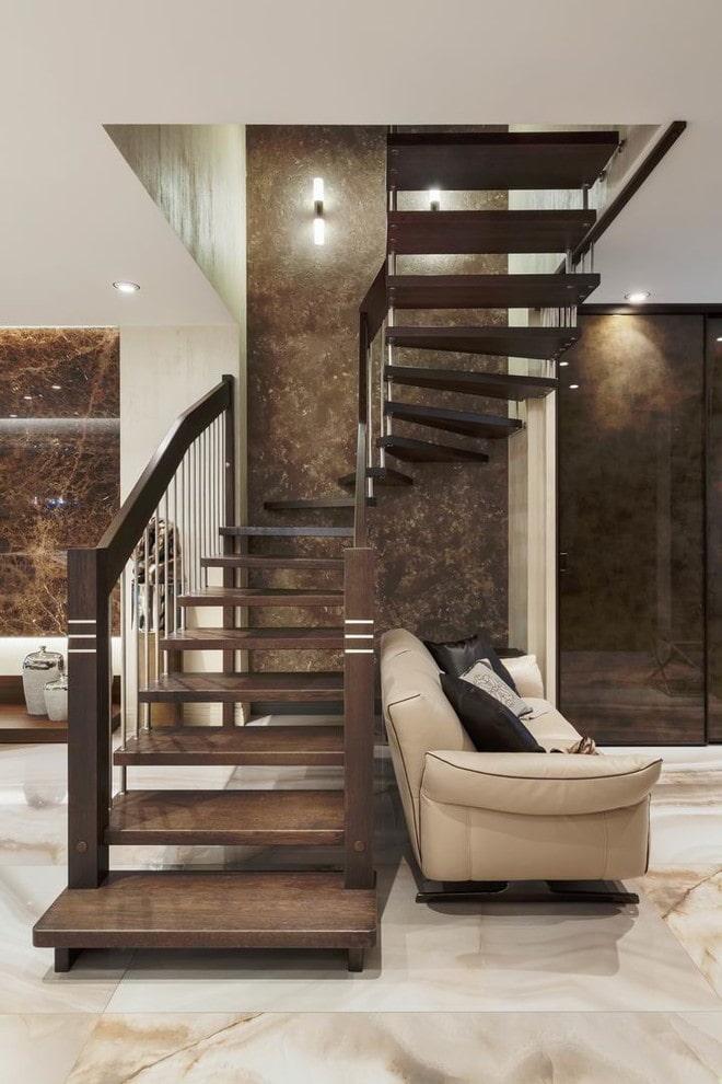 Красивые лестницы на второй этаж в частном доме – фото обзор