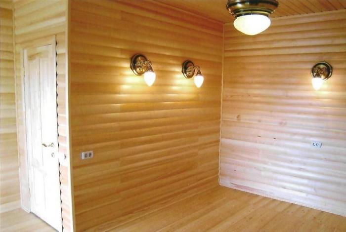 Блок хаус внутри и снаружи бани
