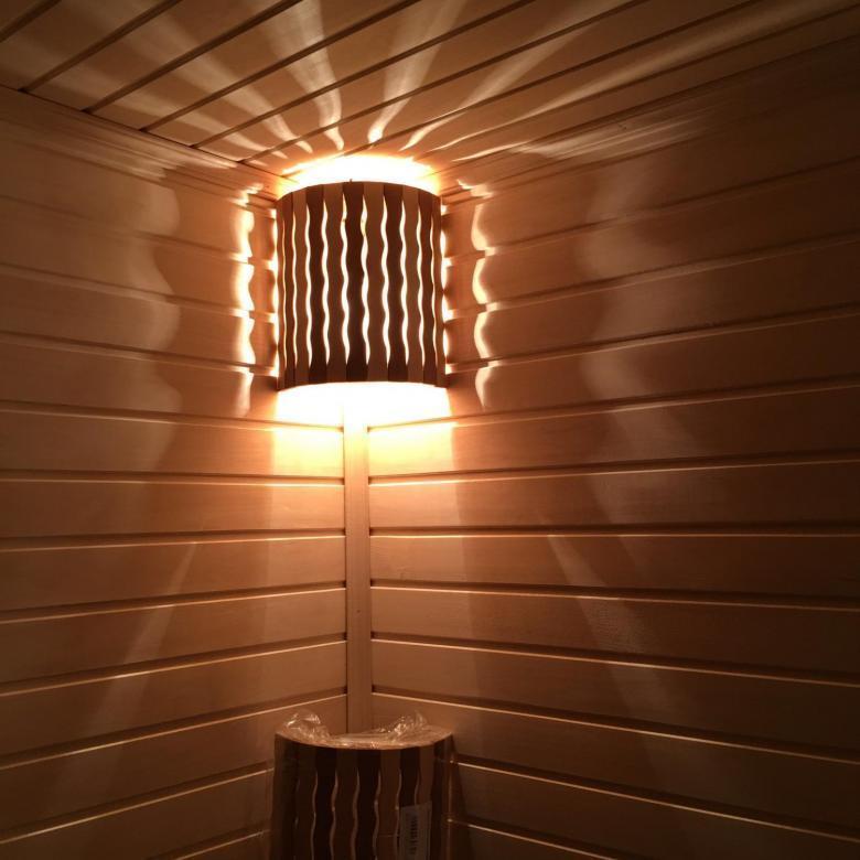 Угловые светильники для бани
