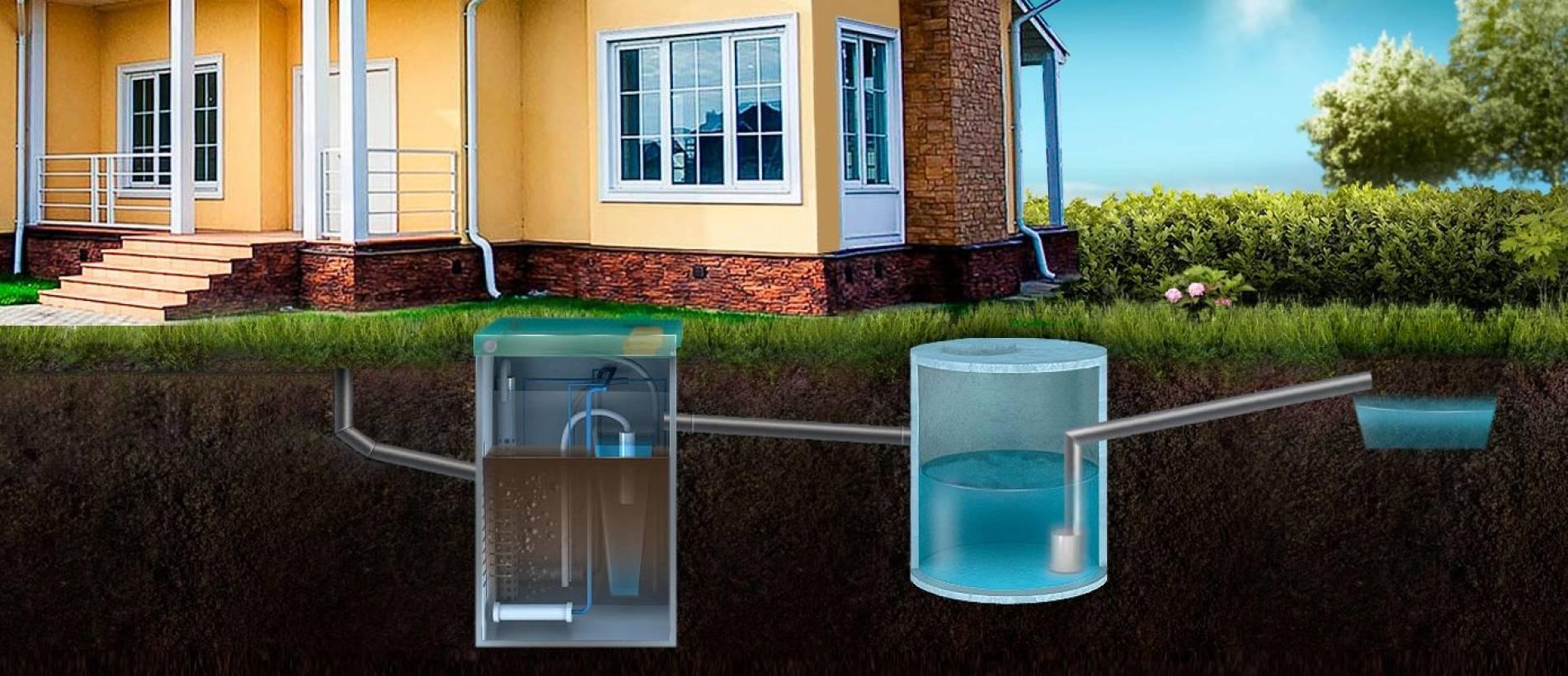 Принцип работы септика без откачки для дачи или частного дома
