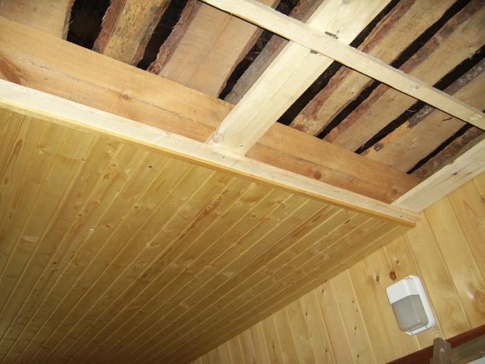 Как прибить вагонку на потолок