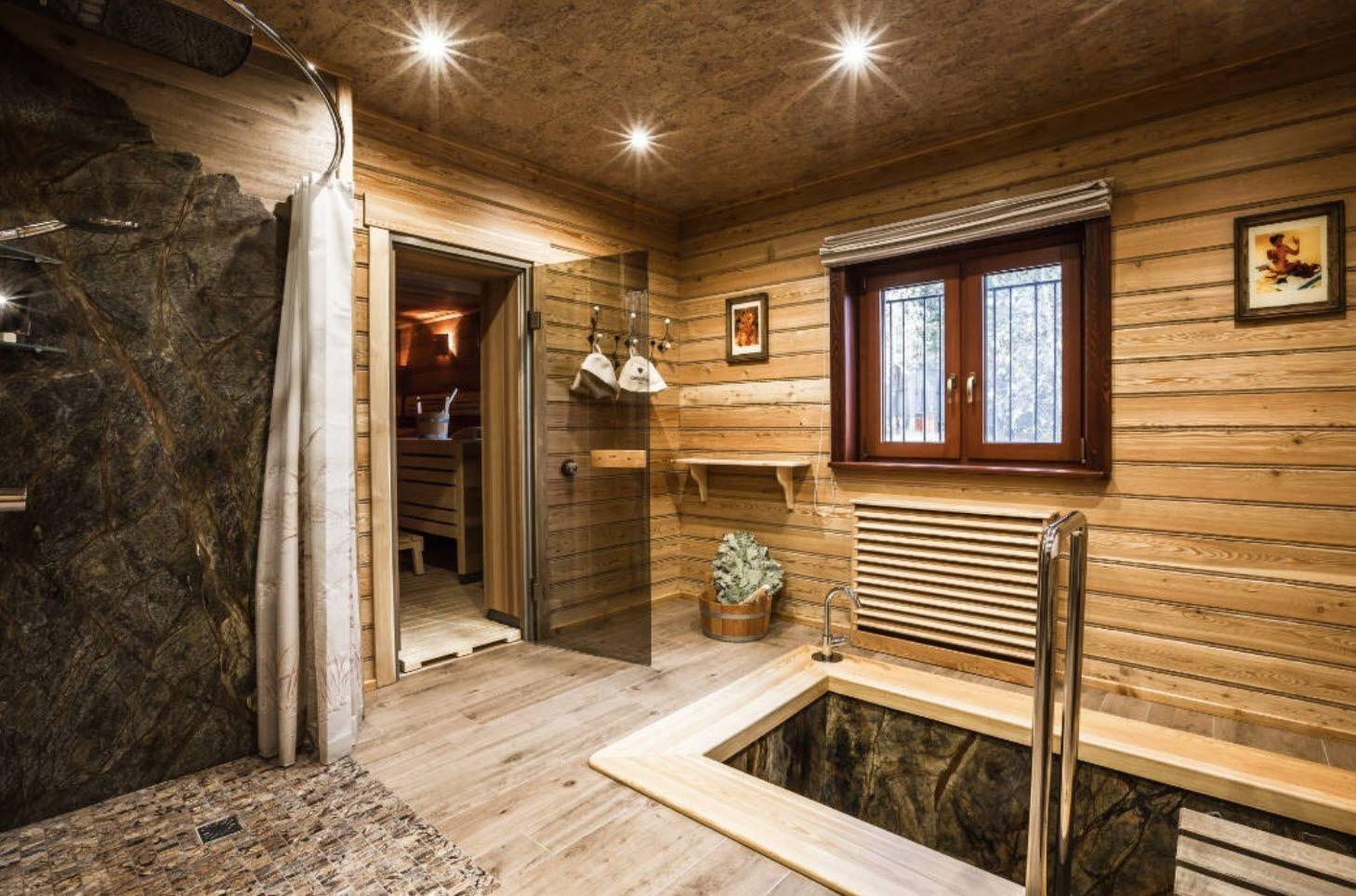 Интерьер бани внутри: особенности оформления