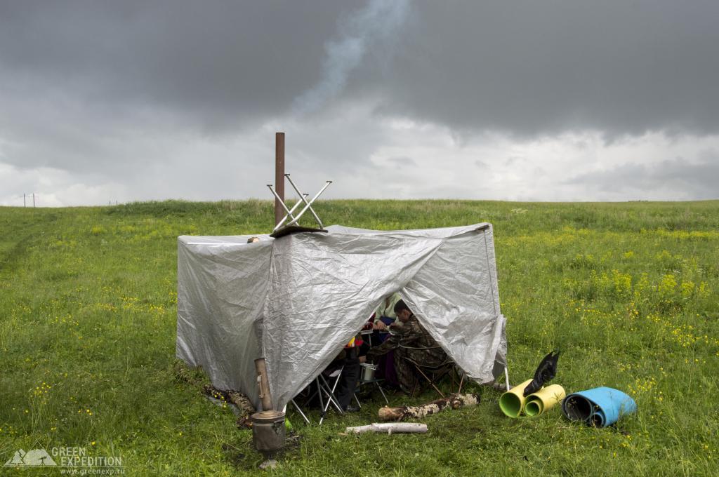Походная баня с печкой и палаткой — особенности использования