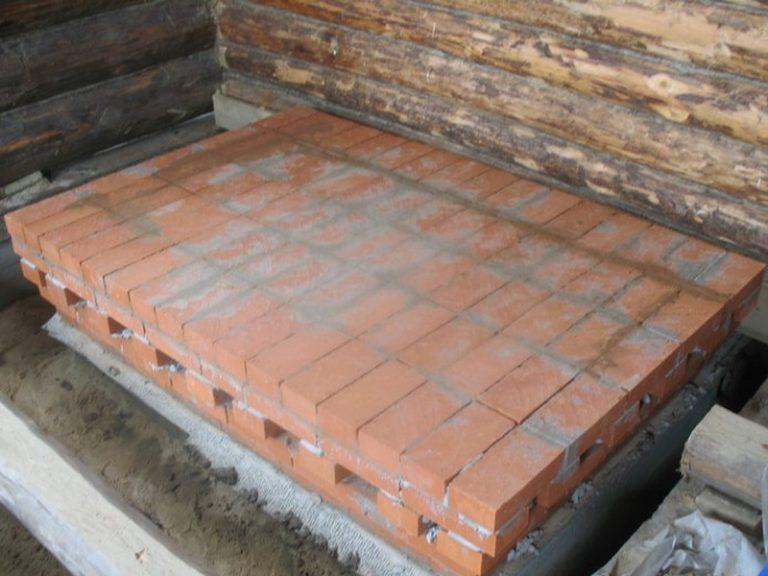 Фундамент под печь в бане своими руками