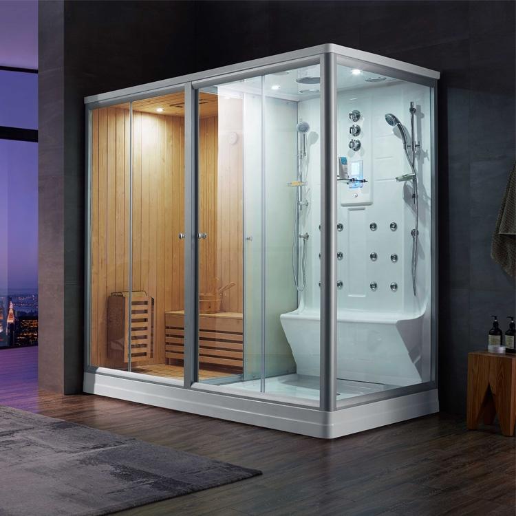 Душевая кабина в бане: выбираем подходящий вариант