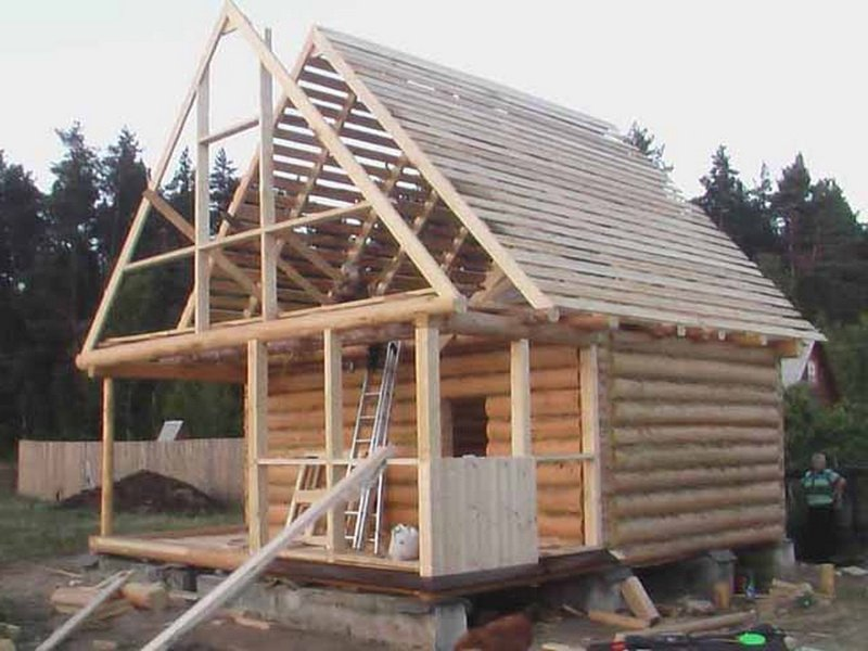 Крыша бани своими руками: инструкция по возведению с фото и видео