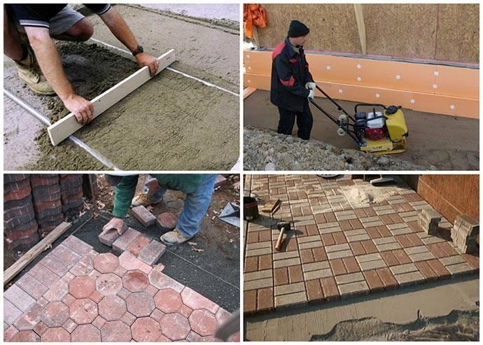 Как правильно укладывать тротуарную плитку. пошаговая инструкция