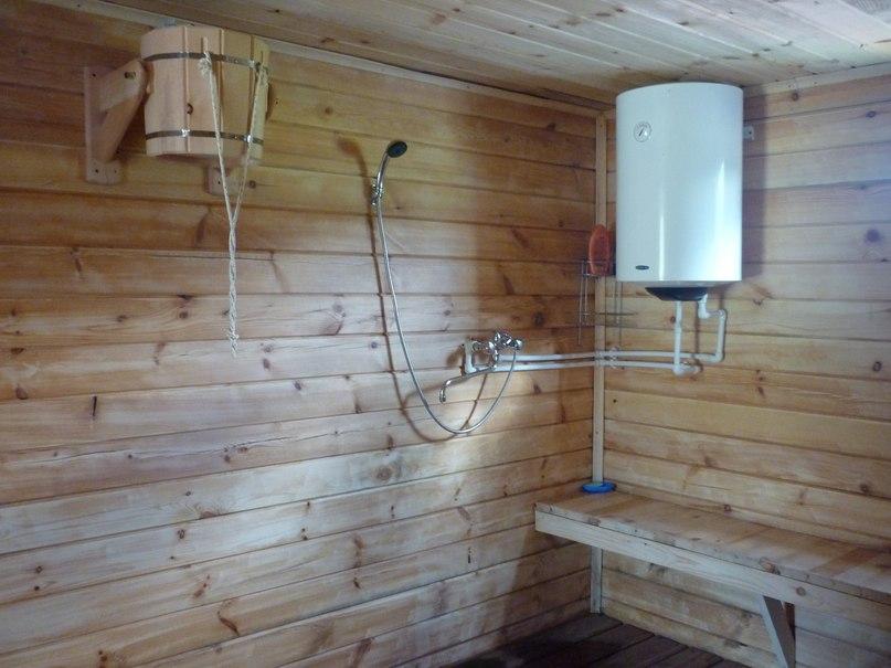 Душ в бане без водопровода