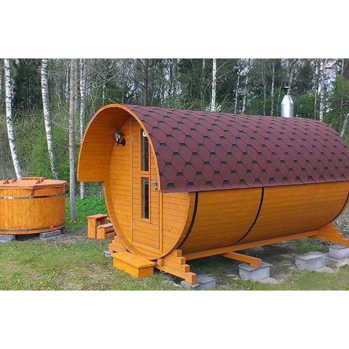 Баня-бочка — круглое строение всем на удивление!