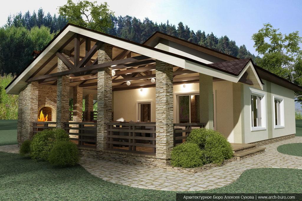 Баня с беседкой под одной крышей: проекты, фото | besedkibest