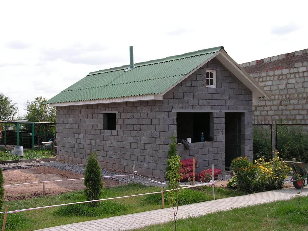 Баня из газобетона – от закладки фундамента до отделочных работ