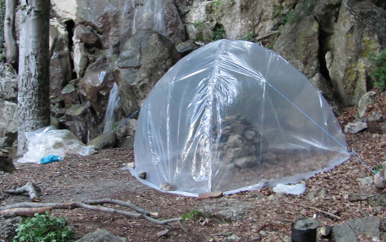 Походная баня с печкой - строим своими руками на свежем воздухе