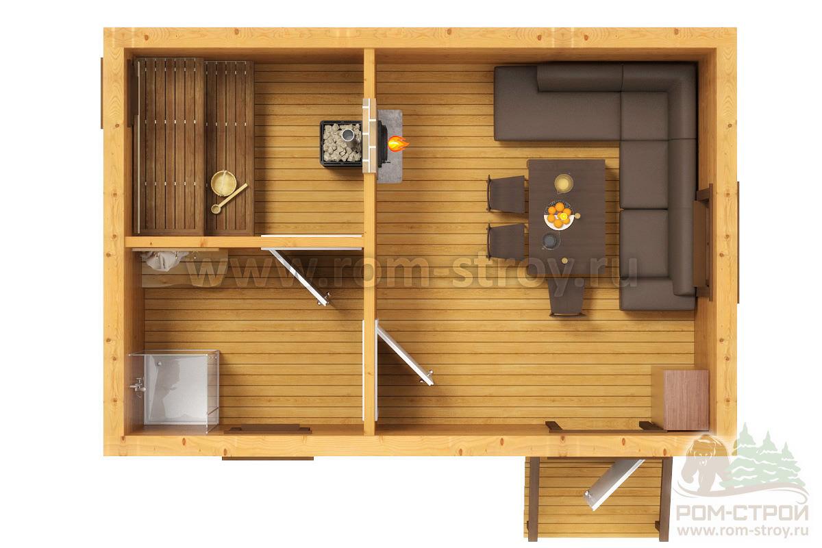 Тонкости планировки бани размером 4х6 с раздельной мойкой и парилкой