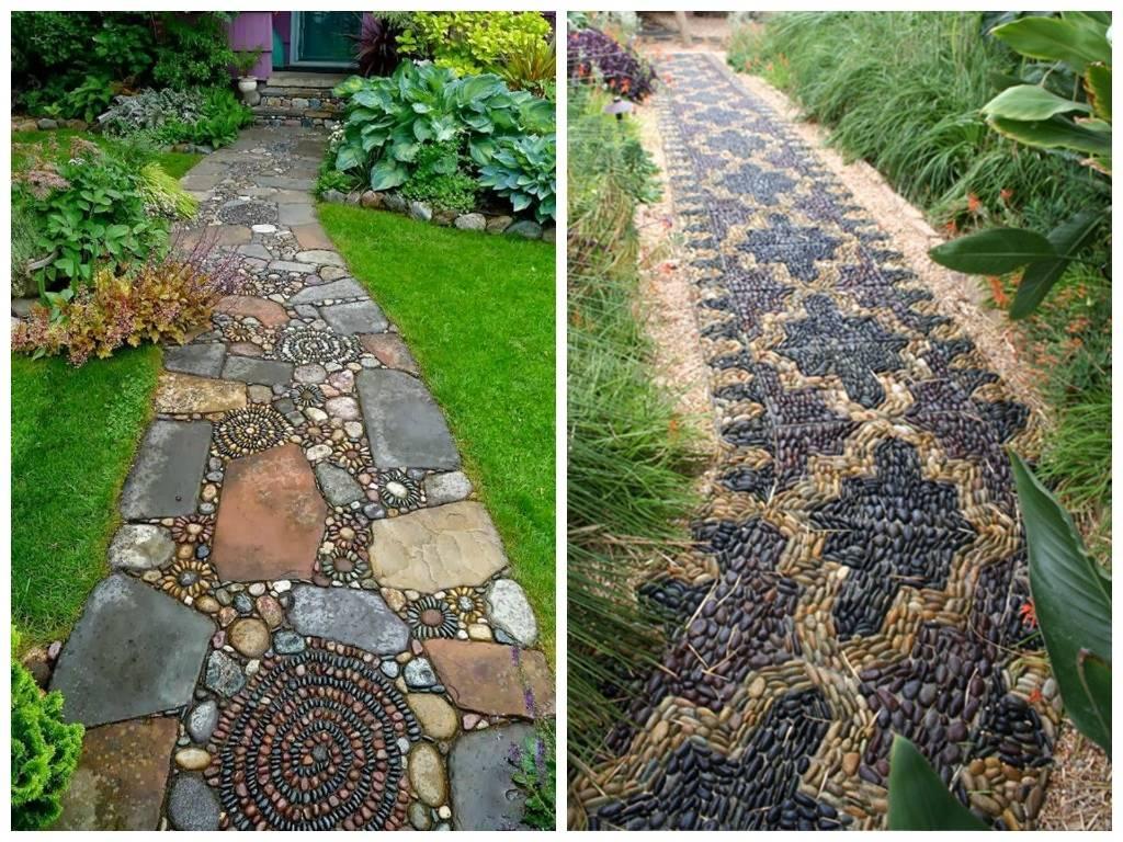 Садовые дорожки: фото примеры для изготовления своими руками