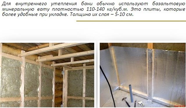 Как сделать утепление бани из пеноблоков: изнутри и снаружи. не дайте стенам разрушаться