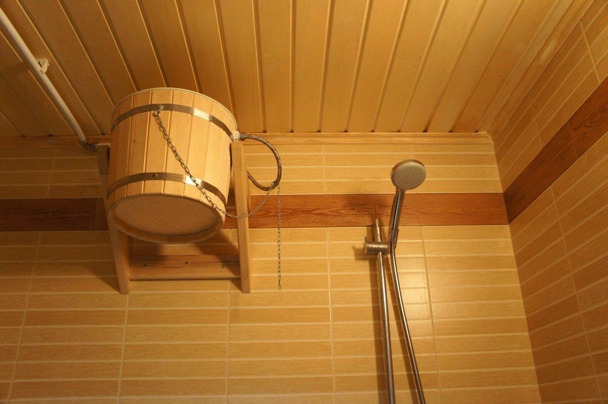 Мойка в бане отделка