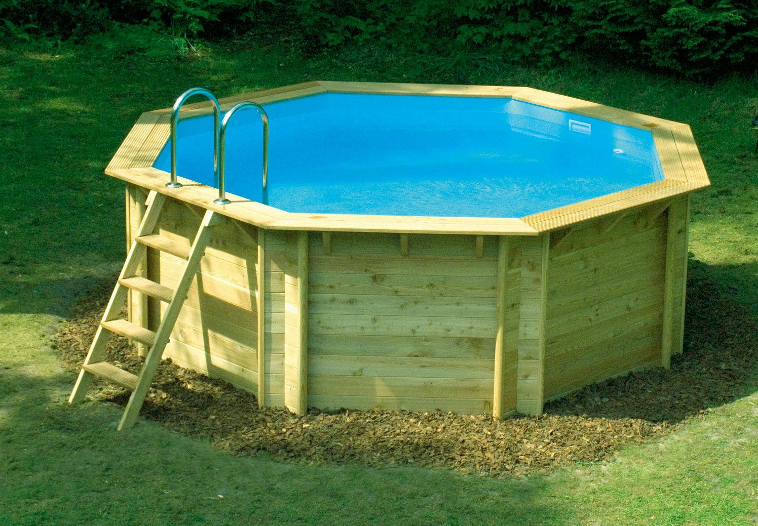 Создание деревянного бассейна для дачи своими руками