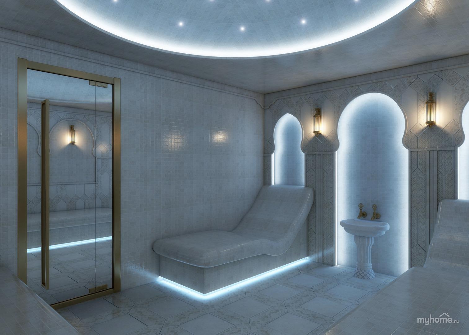 Внутренняя отделка турецкой бани хамам. выбор материалов.