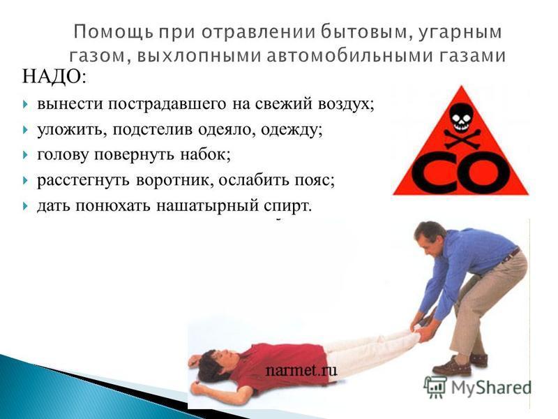 Отравление угарным газом❌: первая помощь человеку, симптомы и лечение