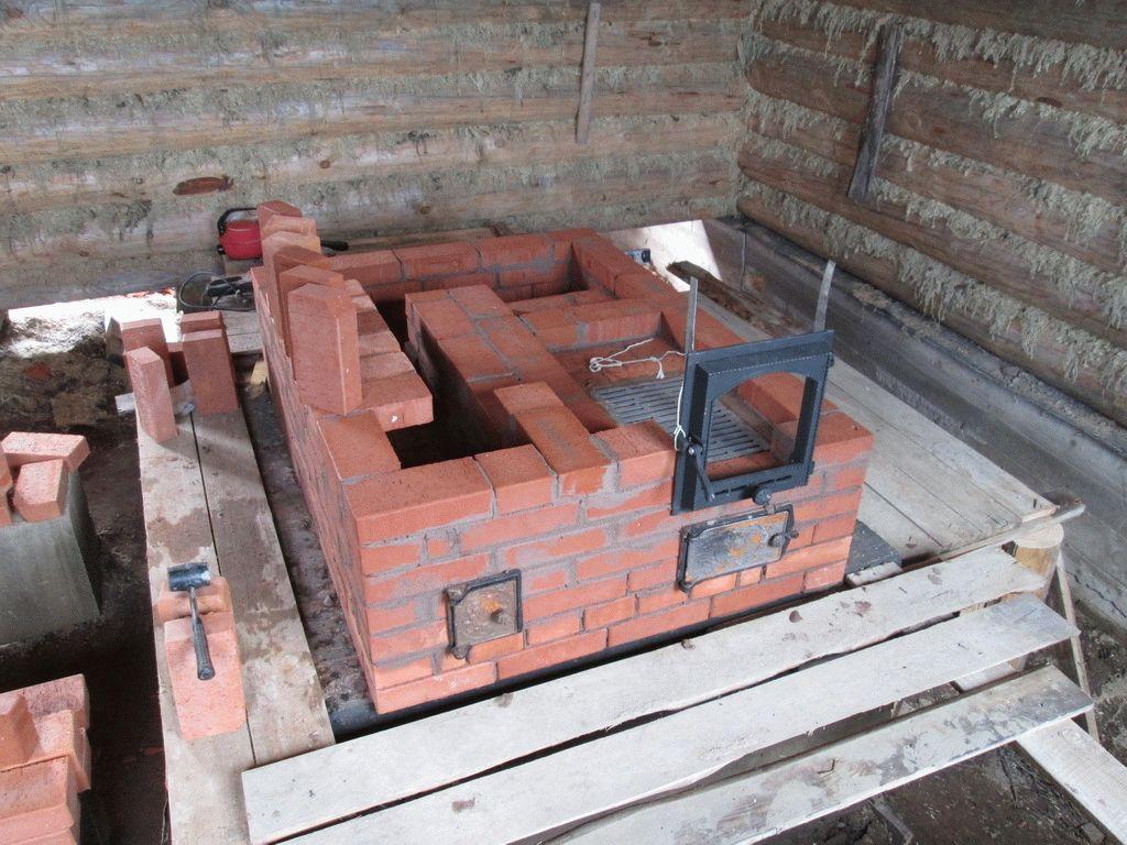 12 этапов изготовления и варианты проектов печей для бани из кирпича [+7 фото]