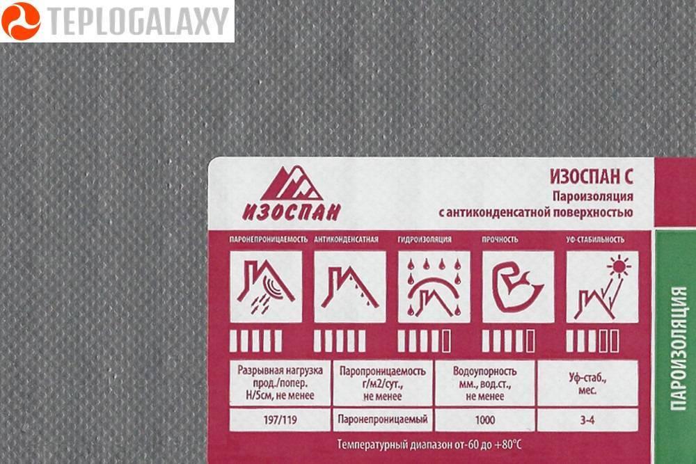 Изоспан fb: технические характеристики материала, инструкция по применению для бань, аналоги и отзывы