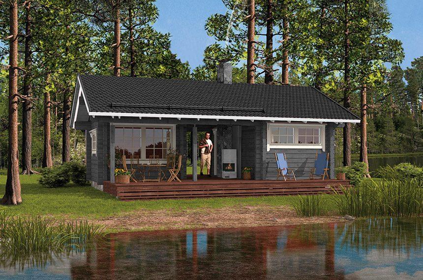 Финские бани из бруса проекты