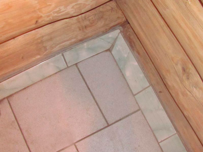 Плитка на стенах в бане (фото)