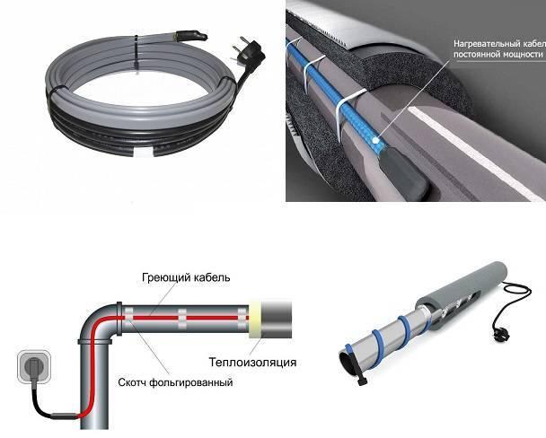 Кабель для обогрева водопроводной трубы: маркировка, виды, производители + особенности выбора