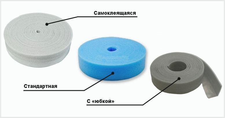 Демпферная лента для стяжки пола: разновидности и монтаж