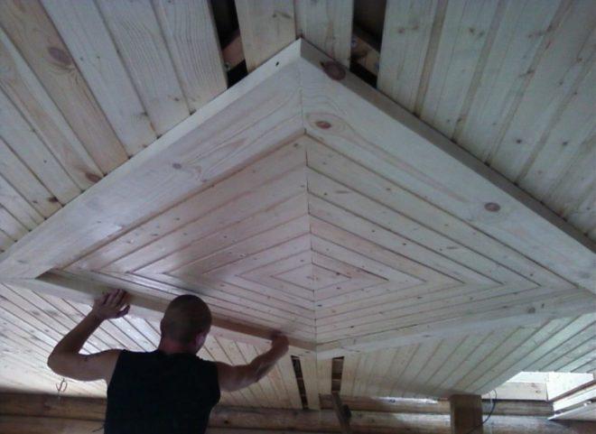 Потолок впарилке: самое жаркое место