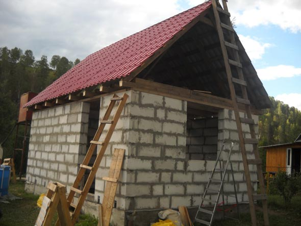 Как построить баню из газобетона: плюсы и минусы постройки