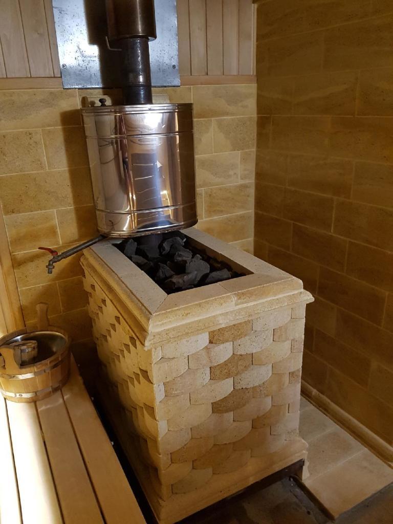 Простая инструкция по обкладке банной печи кирпичом