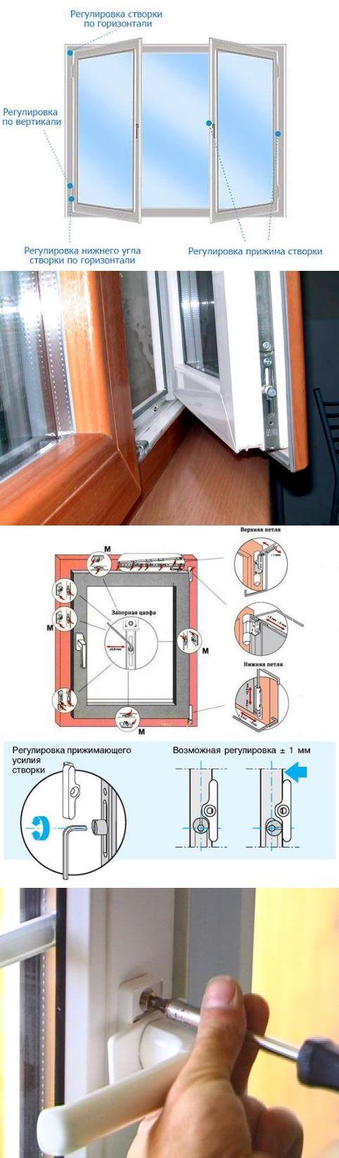 Как регулировать пластиковые окна самому: пошаговая инструкция