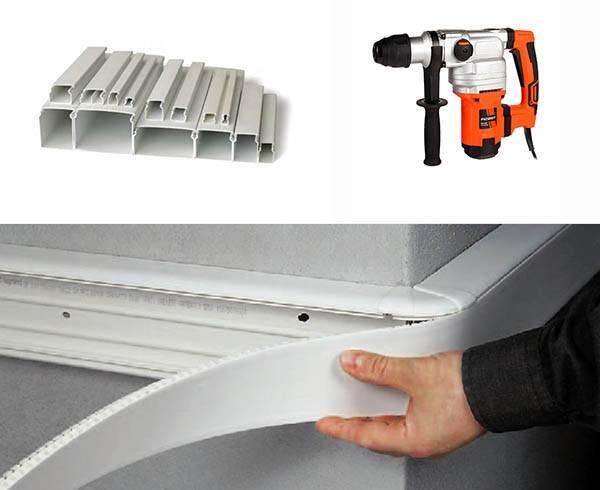 Как прикрепить кабель канал к бетонной стене - клуб мастеров