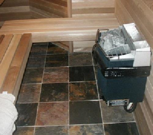 Кафель для бани на пол: плитка из змеевика, нескользящий керамогранит, какую керамическую плитку положить в парной, фото и видео
