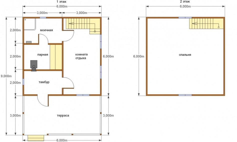 Планировка бани 6х6: что учесть при разработке проекта?
