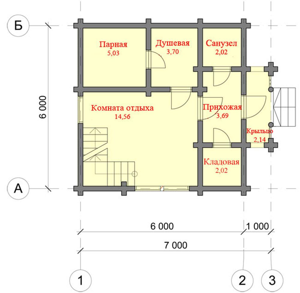 Проекты двухэтажных бань из бревна с туалетом