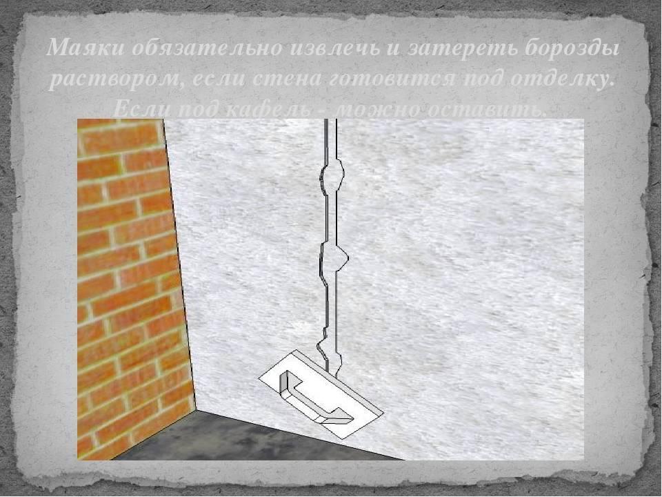 Штукатурка стен по маякам своими руками: это не сложно