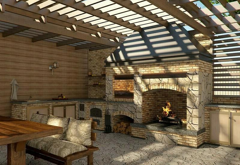 Баня с беседкой - некоторые проекты и строительство по ним