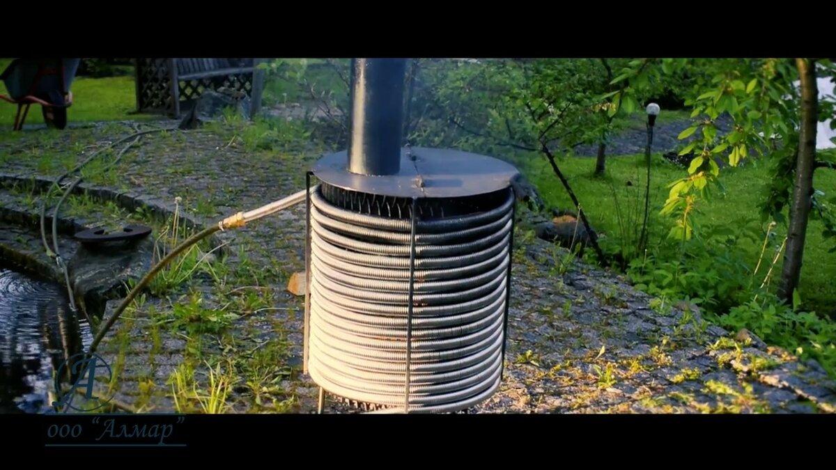 Дровяной водонагреватель для бассейна - строим баню или сауну