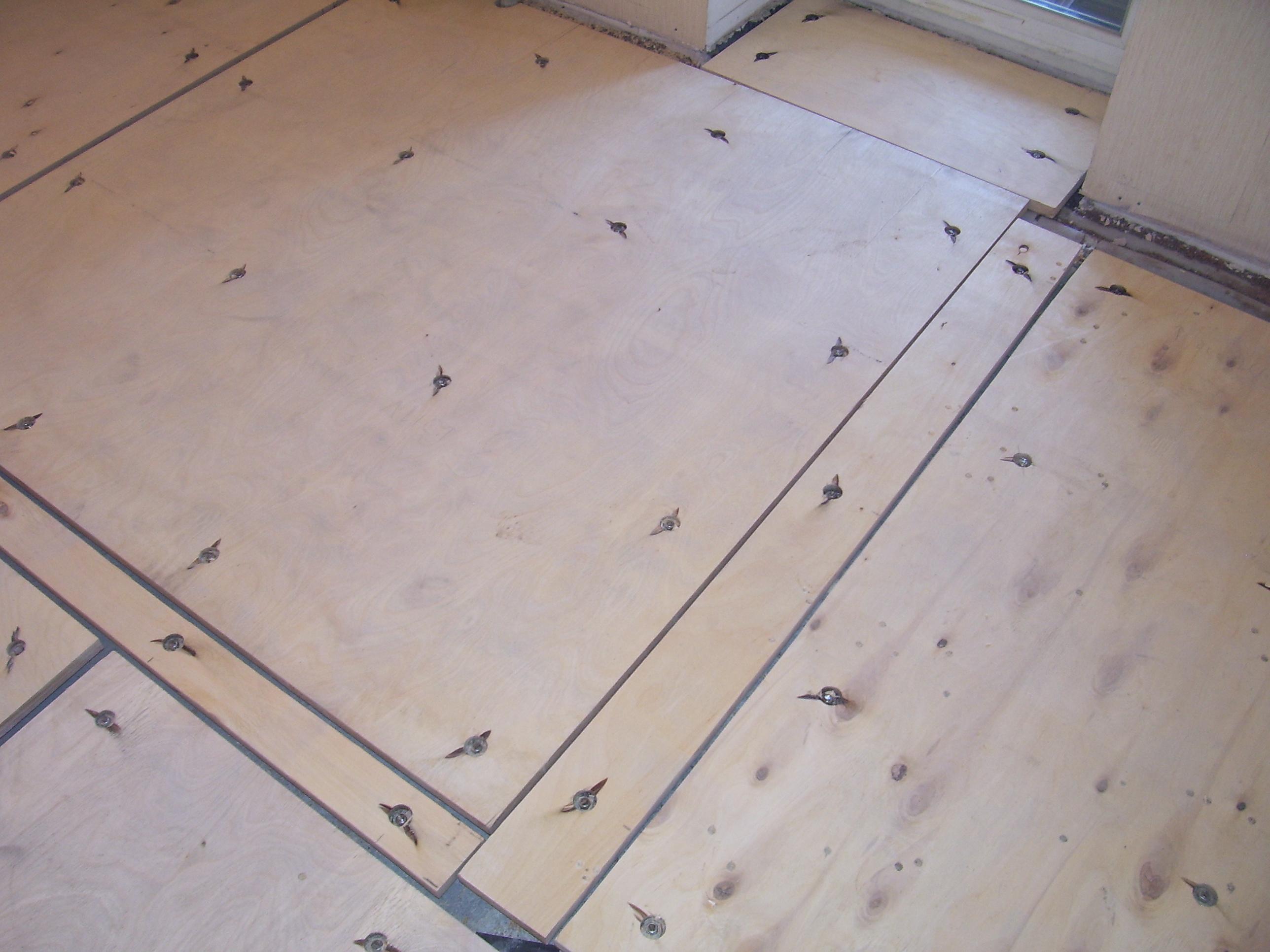 Фанера на бетонный пол без лаг