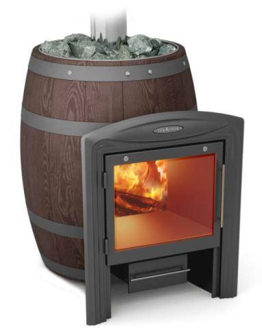 Витрувия: банная печь-камин с самым большим стеклом!