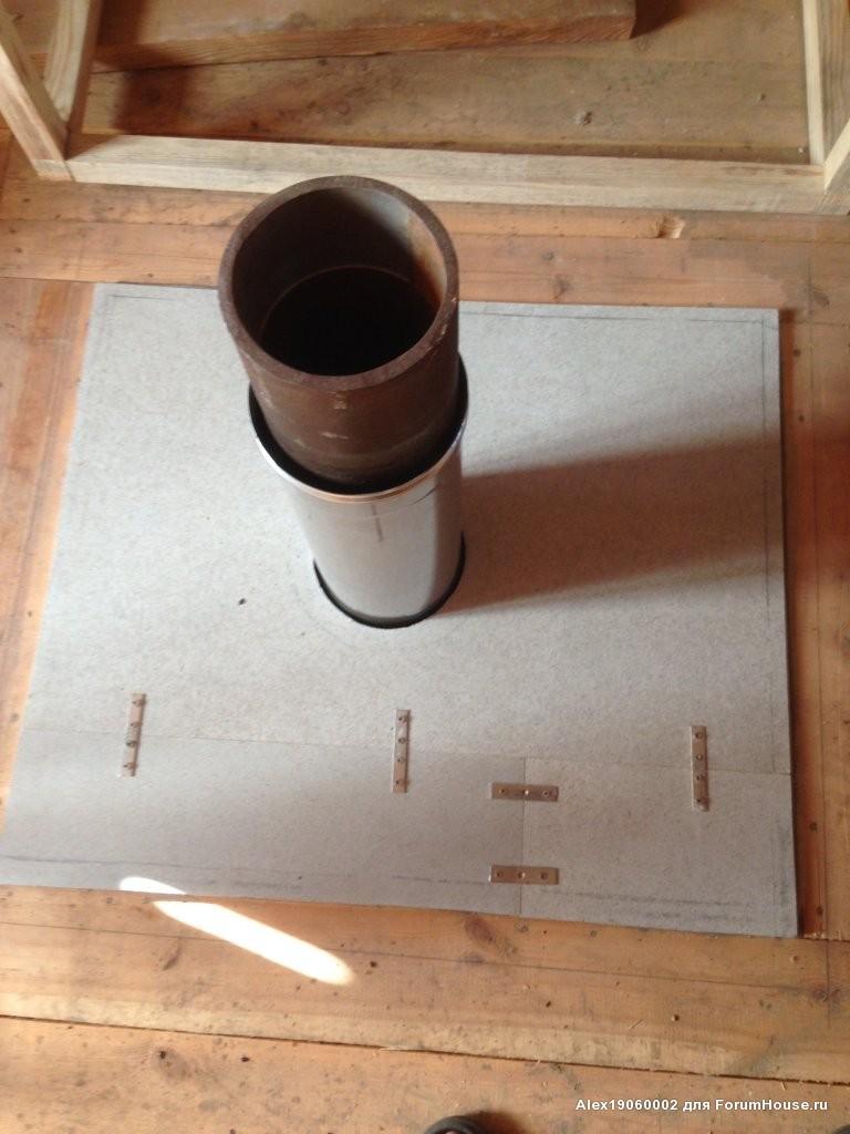 Потолочно-проходной узел дымохода своими руками: пошаговая инструкция