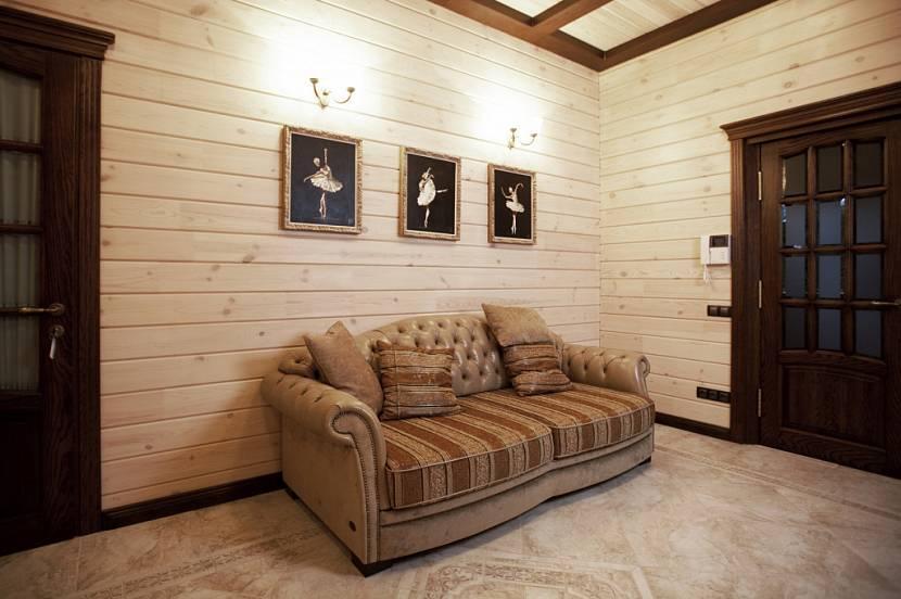 Обшивка и монтаж имитации бруса внутри дома + как крепить деревянные панели к обрешетке