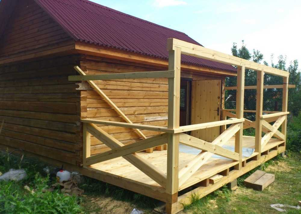 Веранда для бани - строим баню или сауну